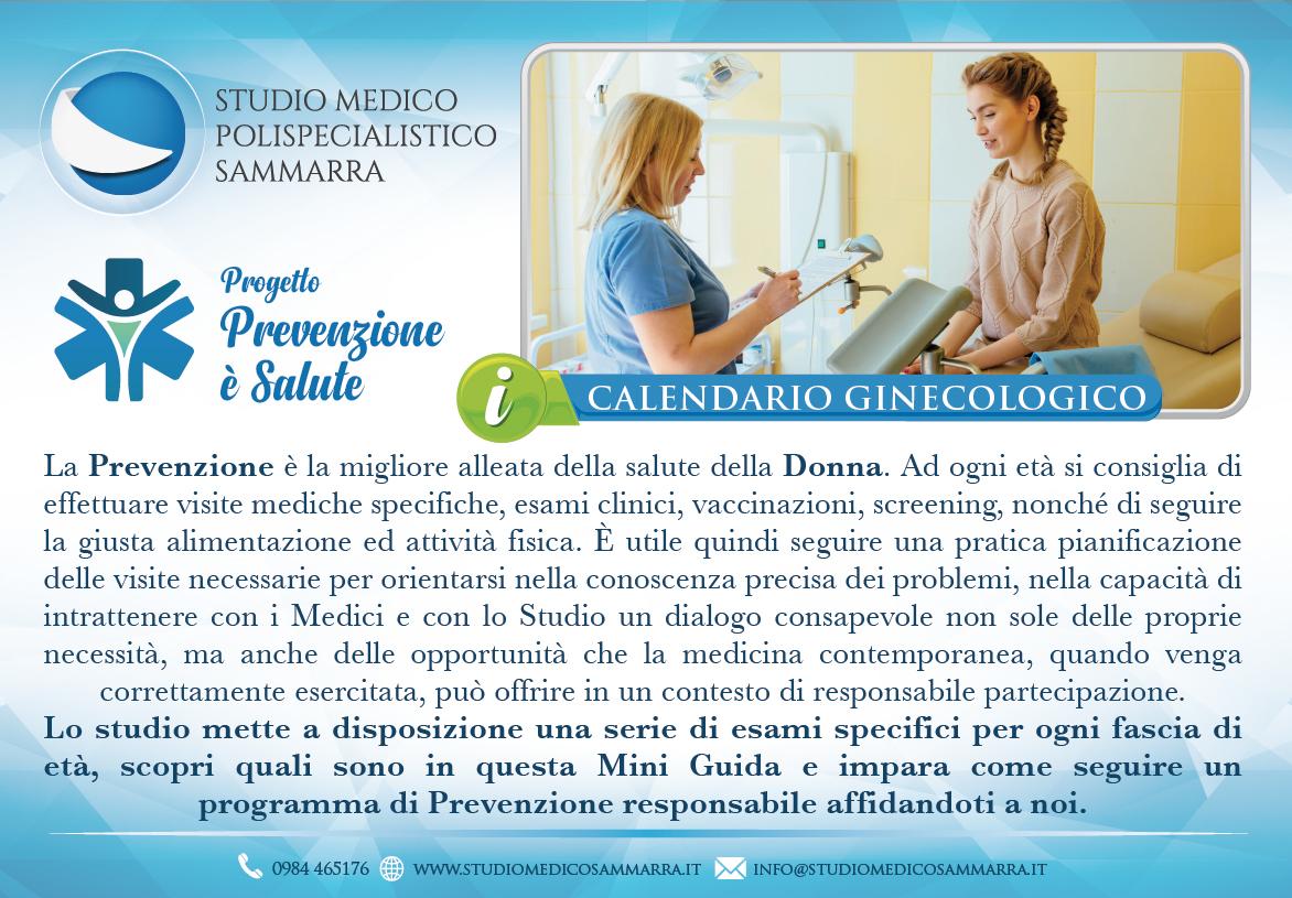Calendario ginecologico