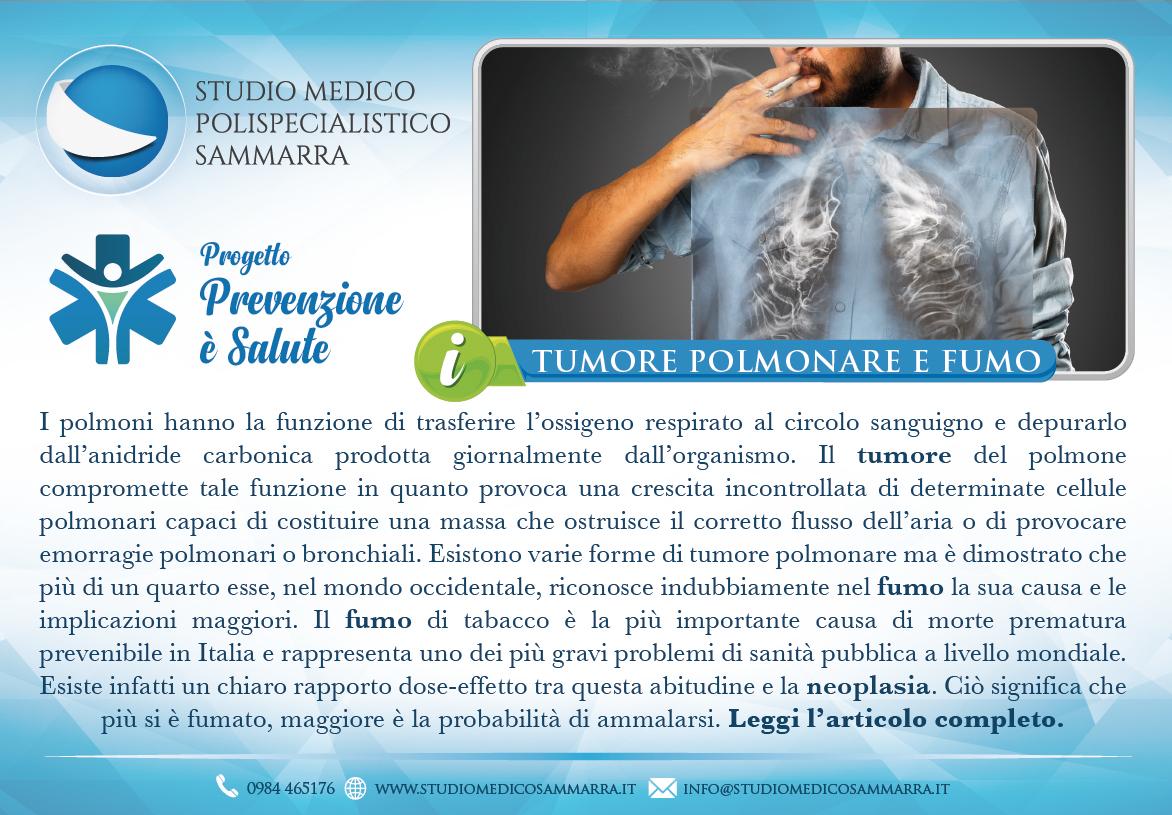 Il tumore polmonare ed il fumo di sigaretta